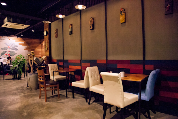 The second floor is spacious and well-furnished with tables that seat two or three. (Michael Thayer/ The Sejong Dish)