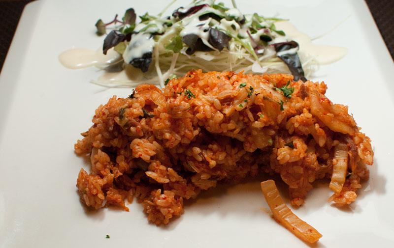 Kimchee Fried Rice at La Belle Maijon (라벨메종). (Salgu Wissmath/ The Sejong Dish)