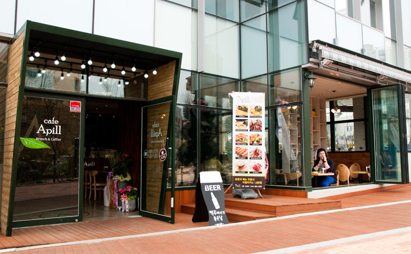Cafe Apill is located a few blocks from the Sejong Lake Park. (Salgu Wissmath/ The Sejong Dish)