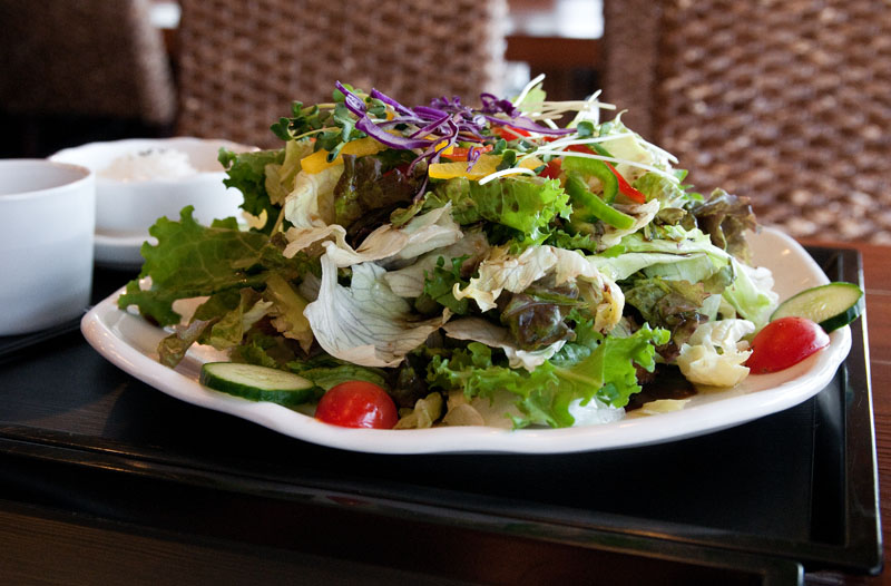 The Salad Tonkatsu is a good choice for anyone craving some vegetables along with their  tonkatsu.  (Salgu Wissmath/ The Sejong Dish)