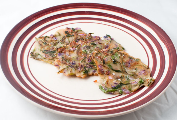 Savory Pancake with Green Onion is a variation of  jeon, the traditional Korean  pancake. (Salgu Wissmath/ The Sejong Dish)